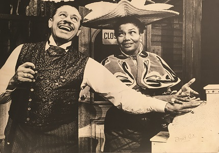 Pearl Bailey and Cab Calloway performing in Hello Dolly in 1967