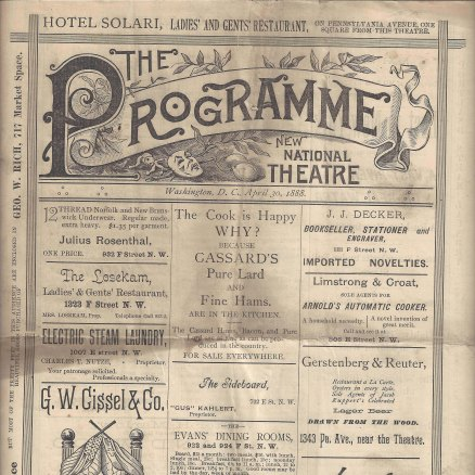Old program titled The Programme from The National.