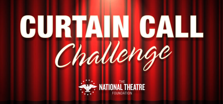 Curtain Call Challenge fundraising graphic