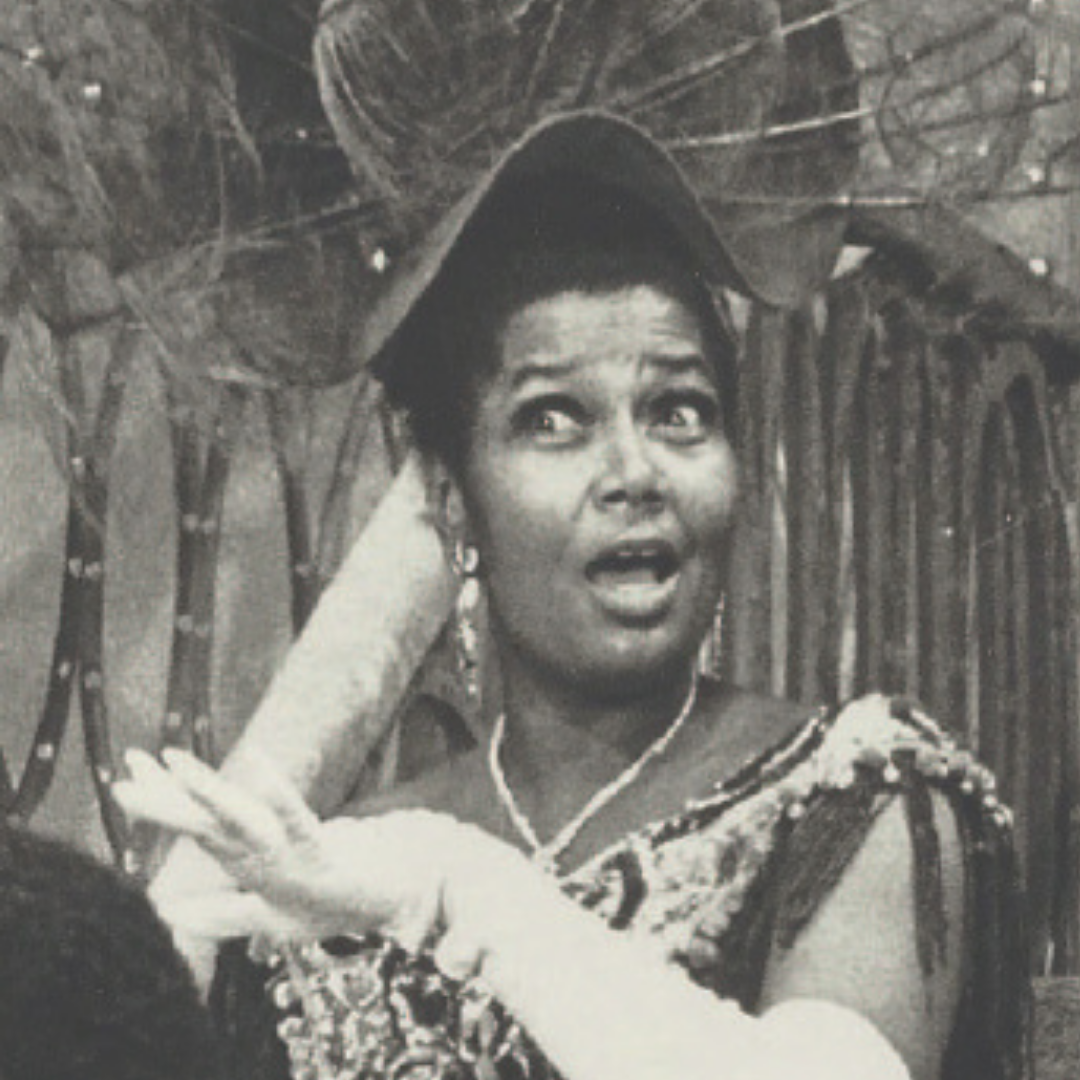 """Pearl Bailey in costume as Dolly in """"Hello Dolly"""""""